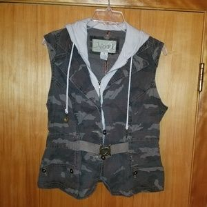 Nori vintage vest camouflage